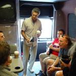 Tour bus meeting